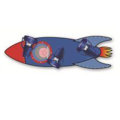 Raketen-Kinderleuchte mit 3 Strahlern