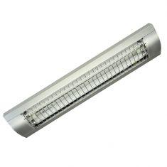 Rasterleuchte in Silber - Breite = 73,5cm 2x 18 Watt, silber