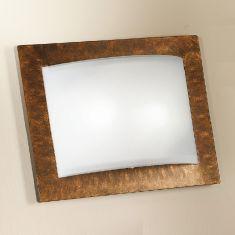 Rechteckige Wand-/Deckenleuchte in 28x36cm 2x 52 Watt, 9,00 cm, 36,00 cm, 28,00 cm