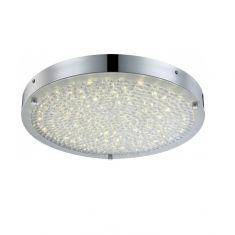 Runde LED Deckenleuchte - Chrom - Kristall -  Ø 40cm, 1x 20Watt, 2330lm