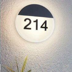 Runde LED-Hausnummernleuchte