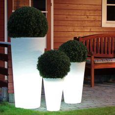 Runder Blumentopf beleuchtet Shining Pot