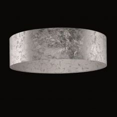 Runder Lampenschirm - Blattsilber - 60 cm