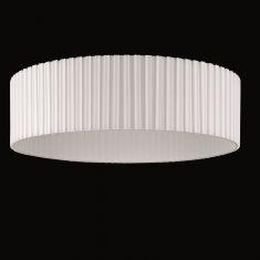 Runder Lampenschirm - Plissee-Stoff Weiß - 60 cm