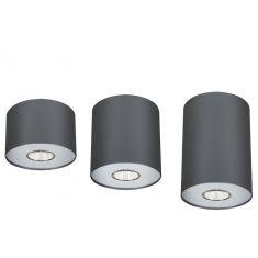 Rundes Downlight Point Graphite/Silber - 3 Größen
