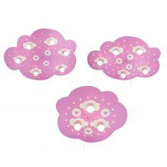Schäfchenwolke rosa, Sternenhimmelfunktion, 3 Größen