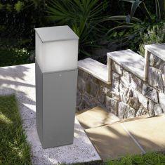 schlagfeste Wegeleuchte IK10, Höhe 90cm, IP54 aus Aluminium mit hohem Reinheitsgrad, 2 Farben verfügbar