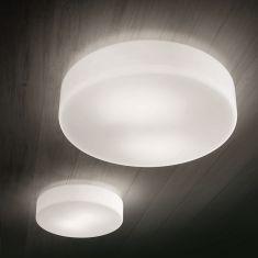 Schlichte LED-Deckenleuchte 2 Größen, LED warm- oder neutralweiss