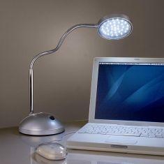 Schreibtischleuchte mit Flexarm, 1x 4W  LED -Leuchtmittel, 5500K Tageslicht