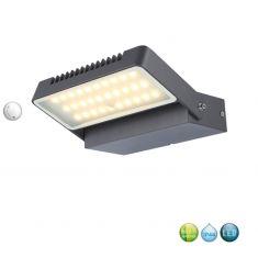 Schwenkbare LED-Außenwandleuchte aus Aluminium,  IP44, inkl. LED-Modul 10,3W