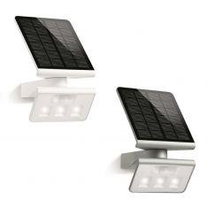 Schwenkbare LED-Solarleuchte - Wandleuchte - mit aufladbarem Solar-Panel - in zwei Farben