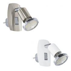 Schwenkbare LED-Steckerleuchte aus Stahl
