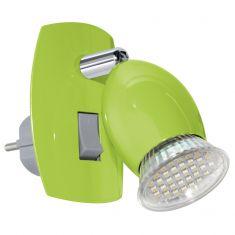 Schwenkbare LED-Steckerleuchte aus Stahl - in grün apfelgrün