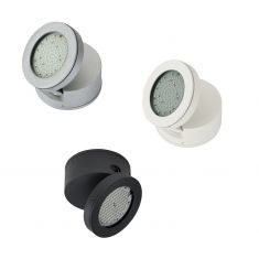 Schwenkbarer LED-Strahler, Aluguss 3 Farben, 1x LED 9W 4000K