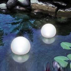 Schwimmfähige LED-Solar Kugelleuchte wählbar in verschiedenen Farben