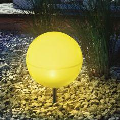 Schwimmfähige Solar Leuchtkugeln in 20cm, Lichtfarbe in gelb