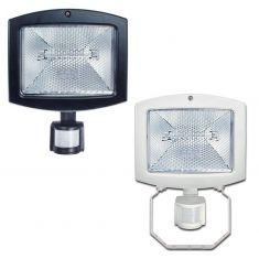 Sensor-Strahler in weiß oder schwarz wählbar, Halogenstab 400W, IP44