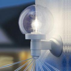 Sensor-Wandleuchte mit mundgeblasenem Kristallglas - zwei Farben