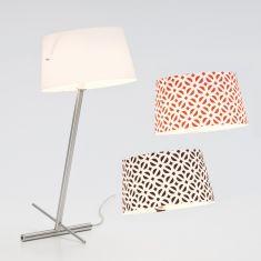 Serien-Lighting Tischleuchte Slant Table Edelstahl