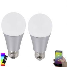 2 er Set  A60 E27 LED-Leuchtmittel 7,5W RGB mit Fernbedinung