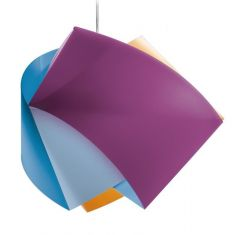 Slamp Designer-Pendelleuchte Gemmy - in Arlecchino (blau - lila - orange) blau/lila/orange