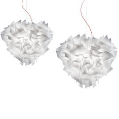 Slamp Designer-Pendelleuchte Veli Couture in brushed white