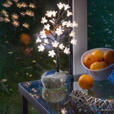 Solar LED-Blütenbäumchen mit wechselbaren Blüten
