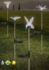 Solar- Erdspieß mit verschiedenen Motiven wählbar, mit LED- Licht  aus Metall, sehr dekorativ
