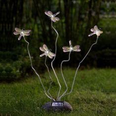 Solarleuchte Libellen im Schwirrflug