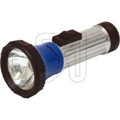 Stahlblech-Taschenlampe mit Schiebeschalter, Lampe E10 und einstellbarem Focus f. 1x Stab-Batterie