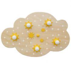 Sternen-Wolke XL mit LED-Sternenhimmel - Buche natur