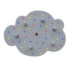 Sternen-Wolke weiß XXL mit farbigen LED-Sternenhimmel