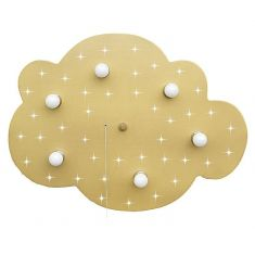 Sternen-Wolke XXL in gold metallic mit LED- Sternenhimmel
