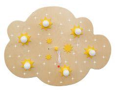 Sternen-Wolke XXL mit LED-Sternenhimmel - Buche natur