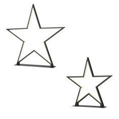 Sternförmige LED-Tischleuchte Lucy in zwei Größen