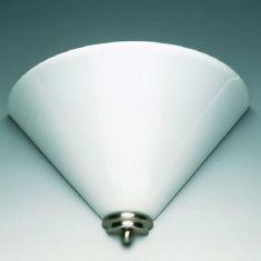 Stilvolle Wandleuchte in nickel-matt - Opalglas weiß  30x14cm 14,00 cm, 30,00 cm