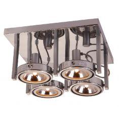 Strahler mit 2 Achsen, 4 flammig, inklusive Leuchtmittel , inklusive  Energiesaver Leuchtmittel G9 4x 33 Watt