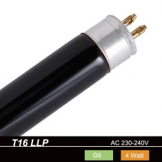 T16 Leuchtstoffröhre, Schwarzlicht 4 Watt, G5 1x 4 Watt, 4 Watt, 135,00 mm