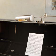 TECNOLUMEN, De Stijl Klavierleuchte, Chrom glänzend