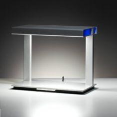 Tecnolumen, Tischleuchte Ton, Farbfilter Weiß-Blau