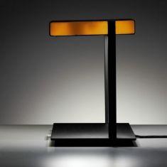 Tecnolumen, Tischleuchte Ton, Farbfilter Weiß-Orange