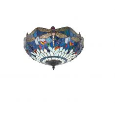 Tiffany Deckenleuchte Blue Dragonfly