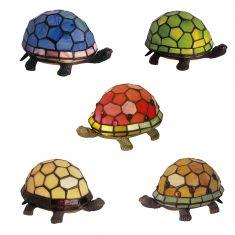 Tiffany-Dekoleuchte Schildkröte in 5 Farben