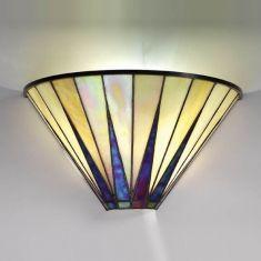 Tiffany-Wandleuchte, Tiffanyglas Farbkombination