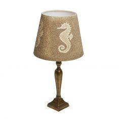 Tischlampe mit Sandmotiv Seepferdchen Boltenhagen