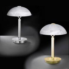 Tischleuchte in 2 Ausführungen erhältlich - mit Alabasterglas