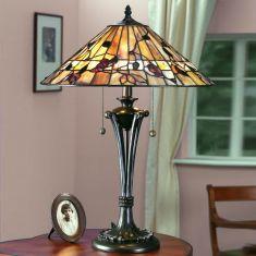 Tischleuchte Bernwood im Tiffany Stil - Large