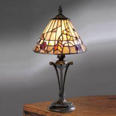 Tischleuchte Bernwood im Tiffany Stil - Small