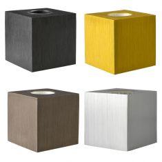 Tischleuchte Cubic aus Aluminium in vier Farben