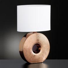 Tischleuchte Eye - 53 cm hoch - bronzefarbig bronze/weiß